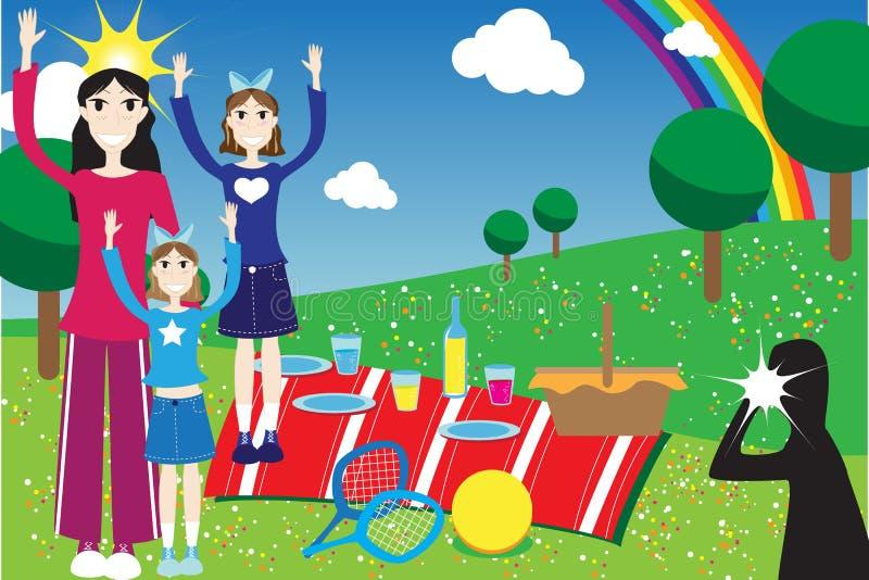 piknik royalty ilustracja