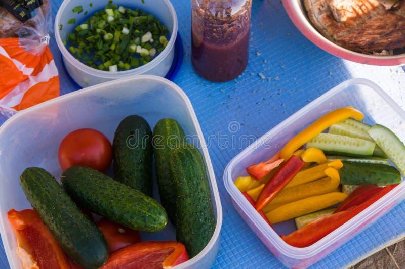 piknik Plenerowy kucharstwo Jedzenie obraz royalty free