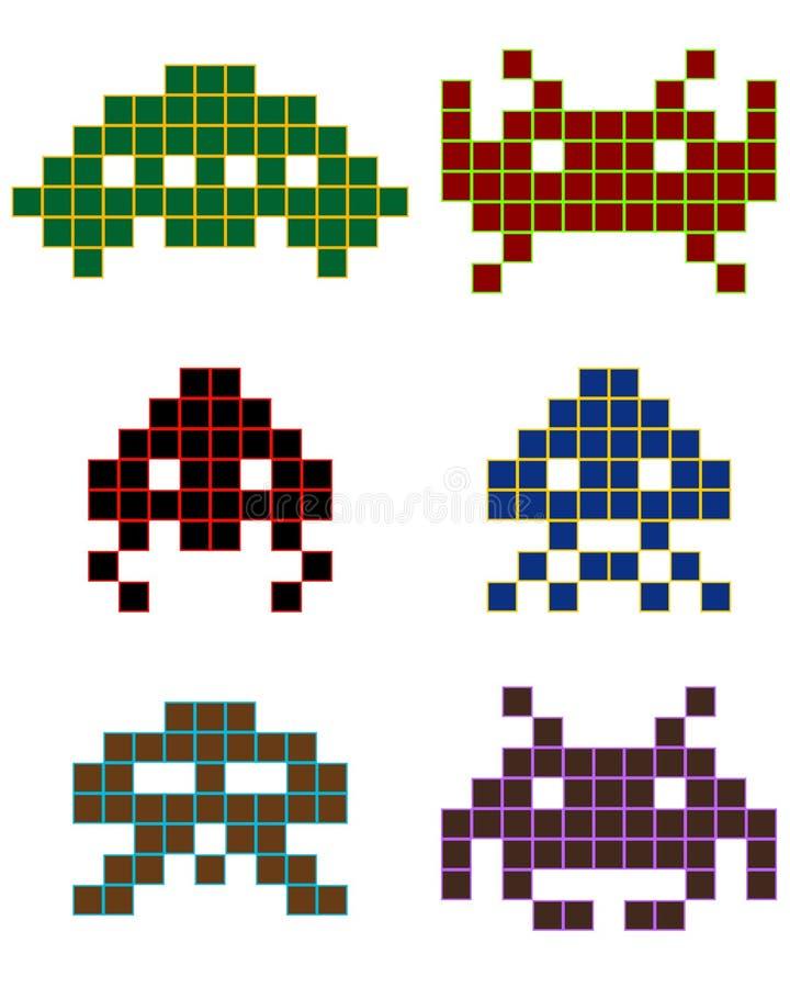 piksel royalty ilustracja