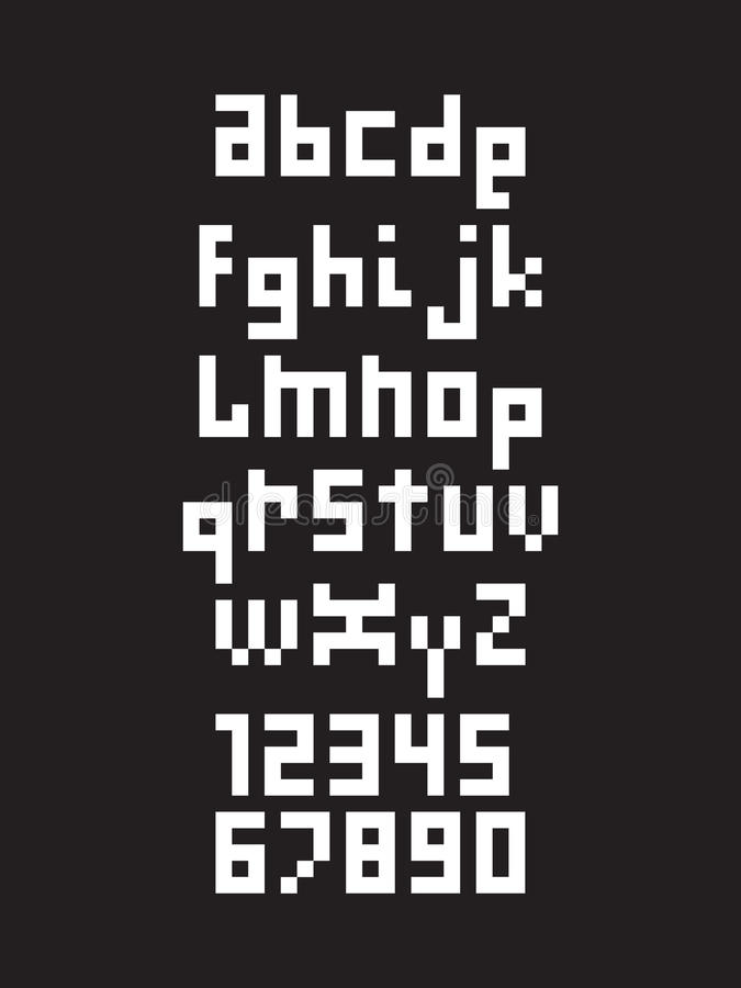 Piksel chrzcielnica, abecadło ilustracja wektor
