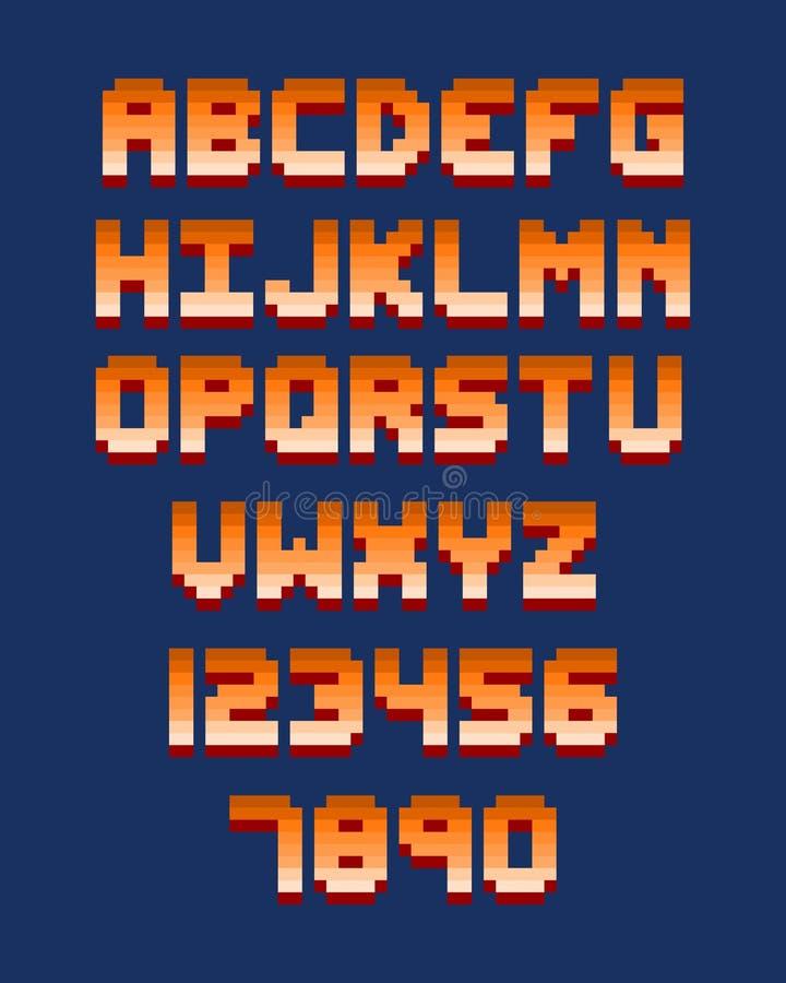 Piksel chrzcielnicy gry komputerowej projekta wektoru retro ilustracja ilustracja wektor
