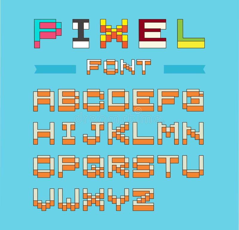 Piksel chrzcielnicy wektoru isometric set royalty ilustracja