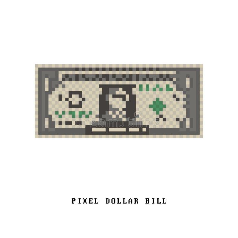 Piksel Dolarowy Bill ilustracja wektor