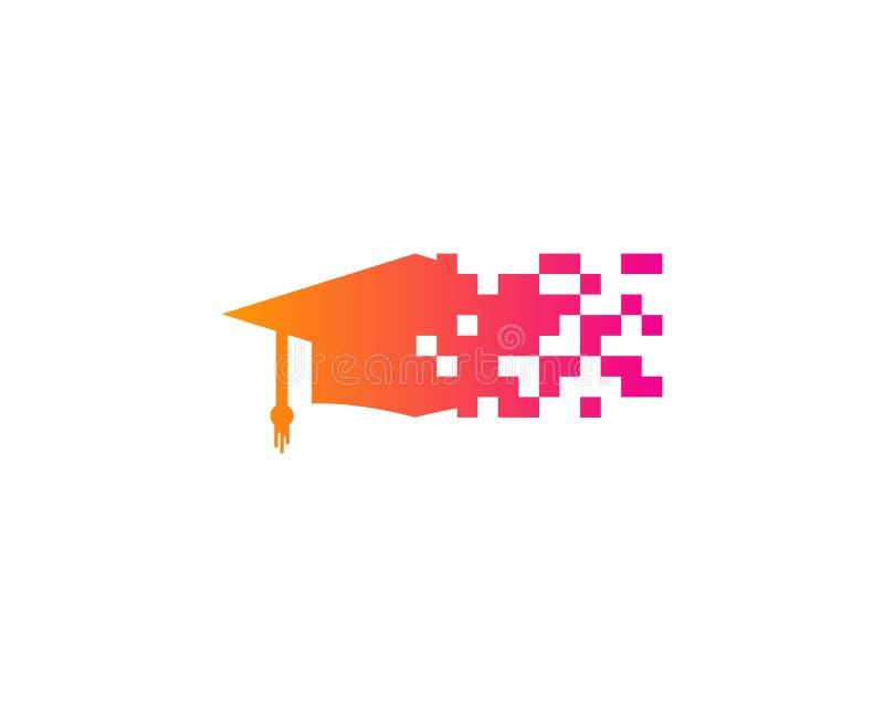 Piksel edukaci ikony loga projekta element ilustracja wektor