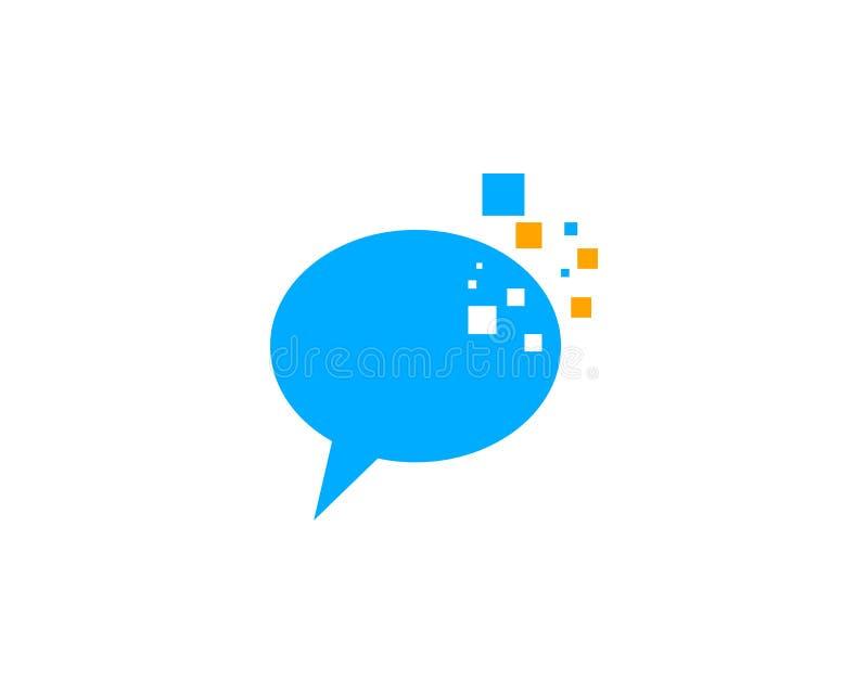 Piksel gadki loga projekta szablon ilustracji