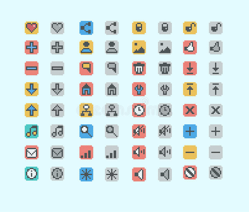 Piksel ikona royalty ilustracja