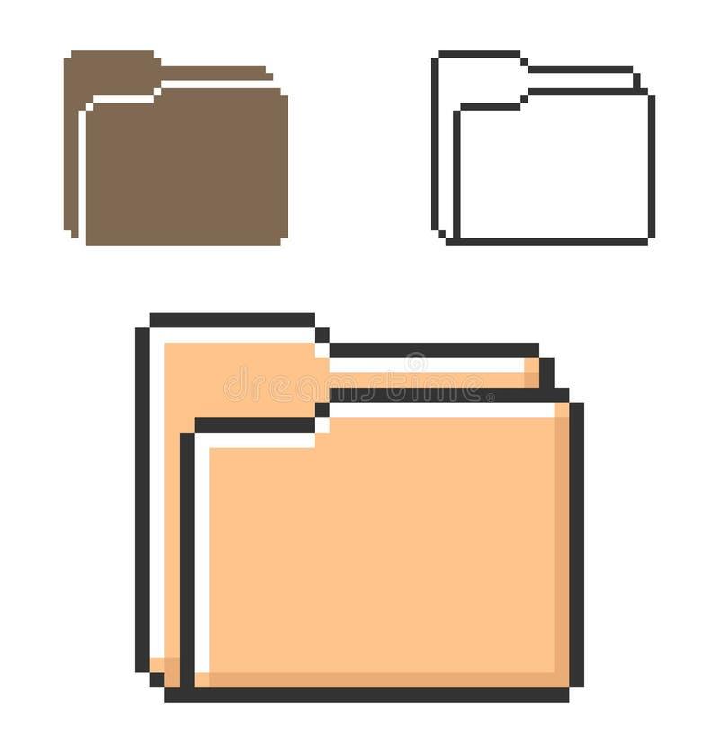 Piksel ikona falcówka ilustracji
