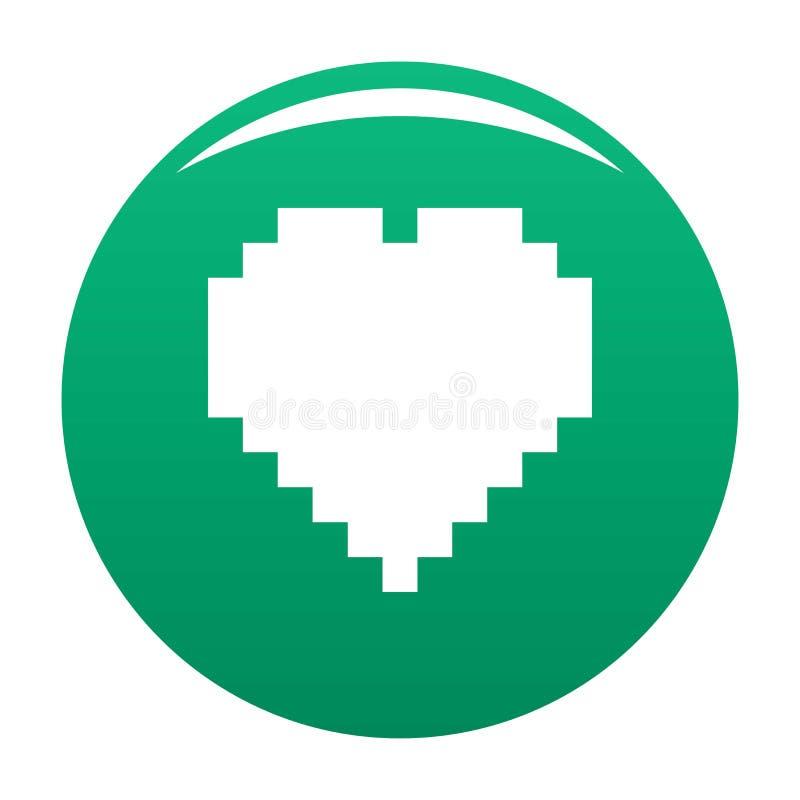 Piksel ikony wektoru kierowa zieleń ilustracja wektor