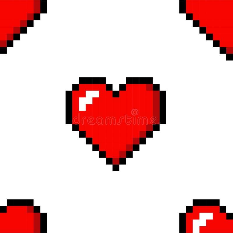 Piksel kierowej miłości koloru bezszwowa deseniowa ikona ilustracja wektor
