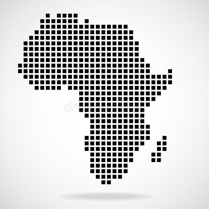 Piksel mapa Afryka ilustracja wektor