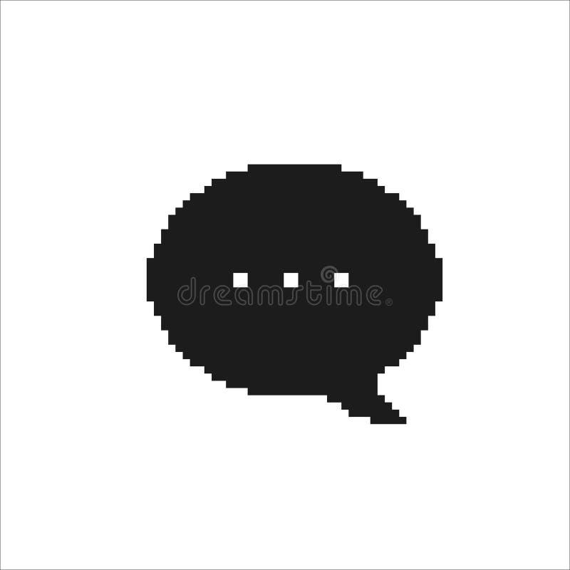 Piksel mowy bąbel Iicon, wektor odizolowywał prostą ilustrację zdjęcie royalty free