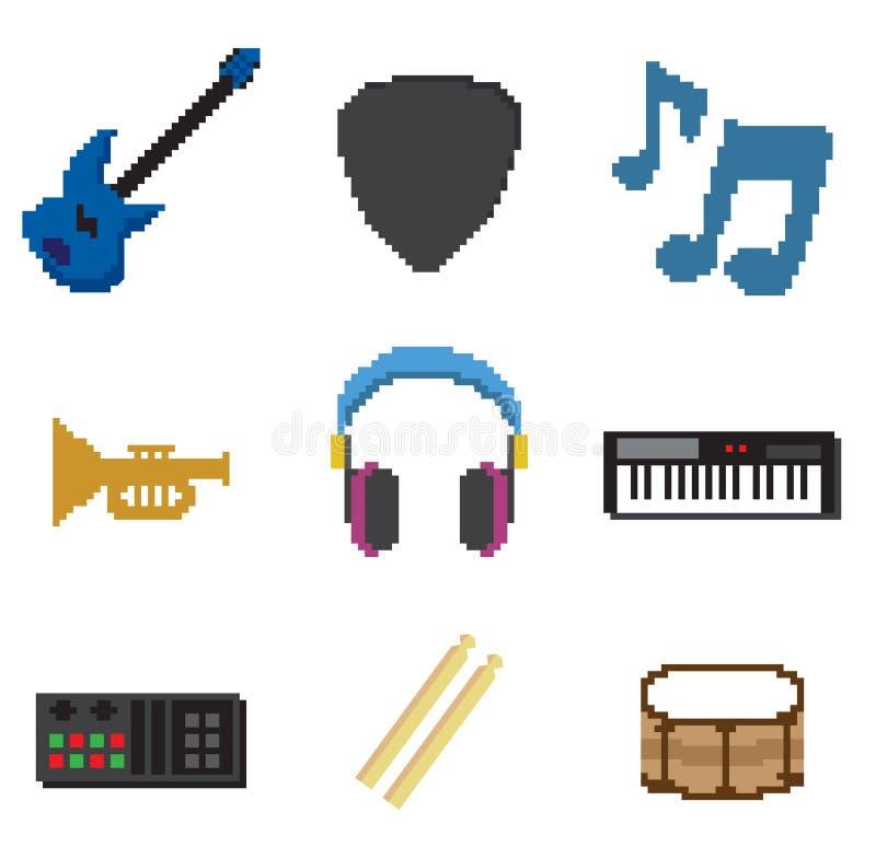 Piksel muzyka ilustracja wektor