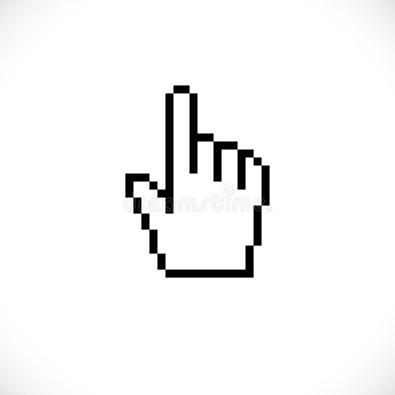 Piksel myszy komputerowa ręka royalty ilustracja