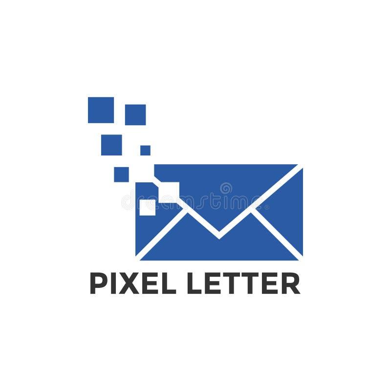 Piksel poczty ikony projekta graficzny szablon royalty ilustracja