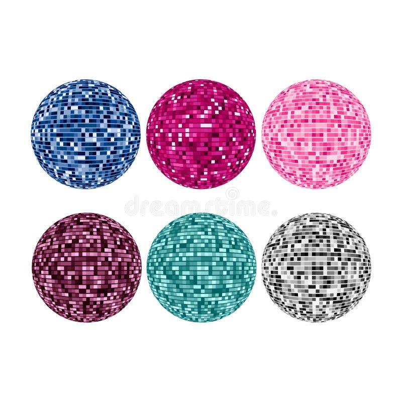 Piksel sfery ilustracyjne ilustracja wektor