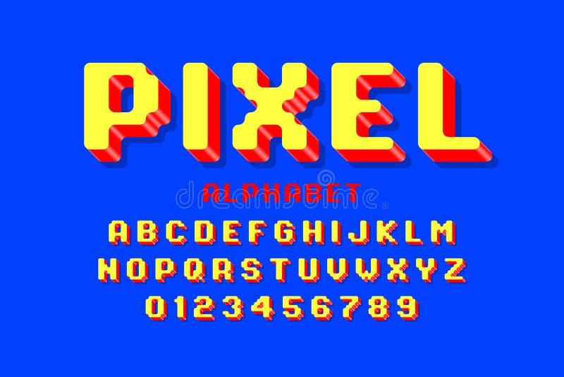 Piksel stylowa chrzcielnica ilustracja wektor