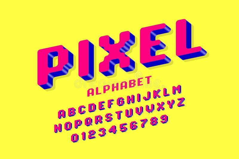 Piksel stylowa chrzcielnica royalty ilustracja