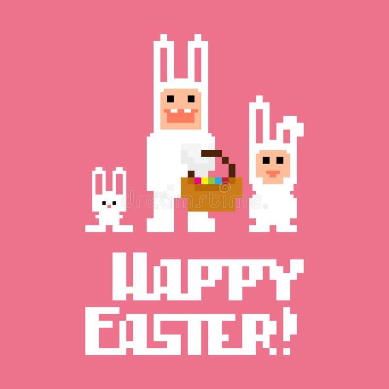 Piksel sztuka Easter ilustracji