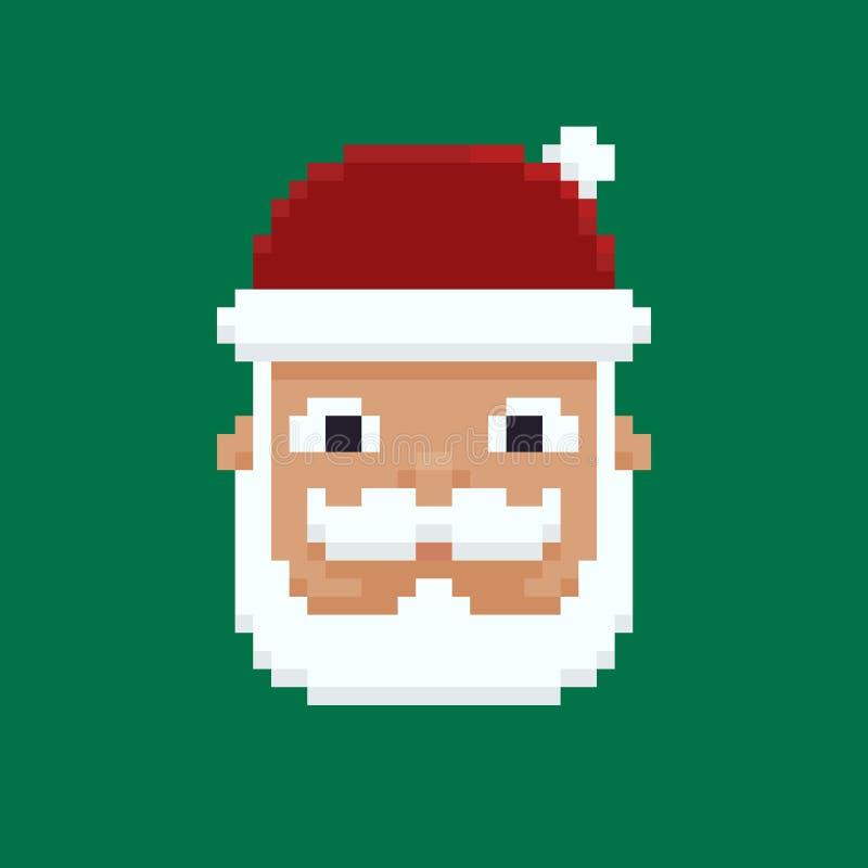 Piksel sztuka Santa ilustracji