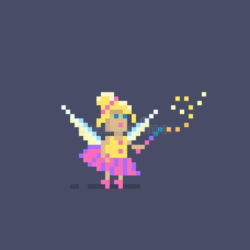 Piksel sztuki śliczny czarodziejski princess ilustracja wektor