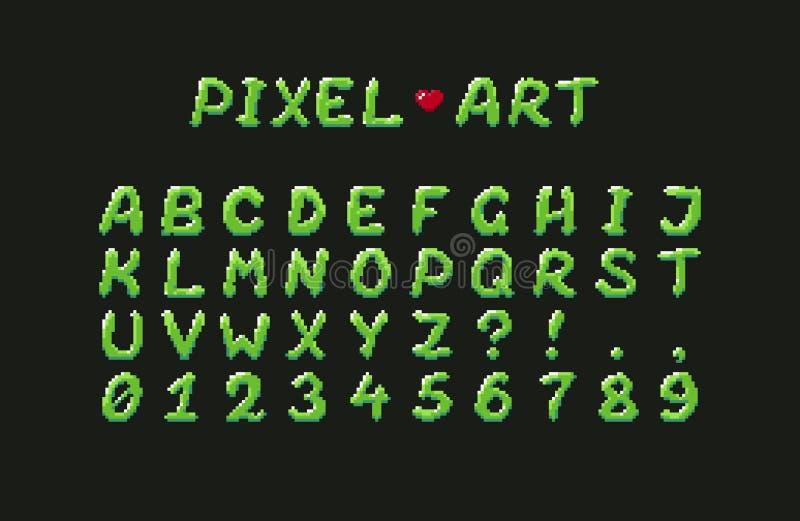 Piksel sztuki abecadło ilustracji