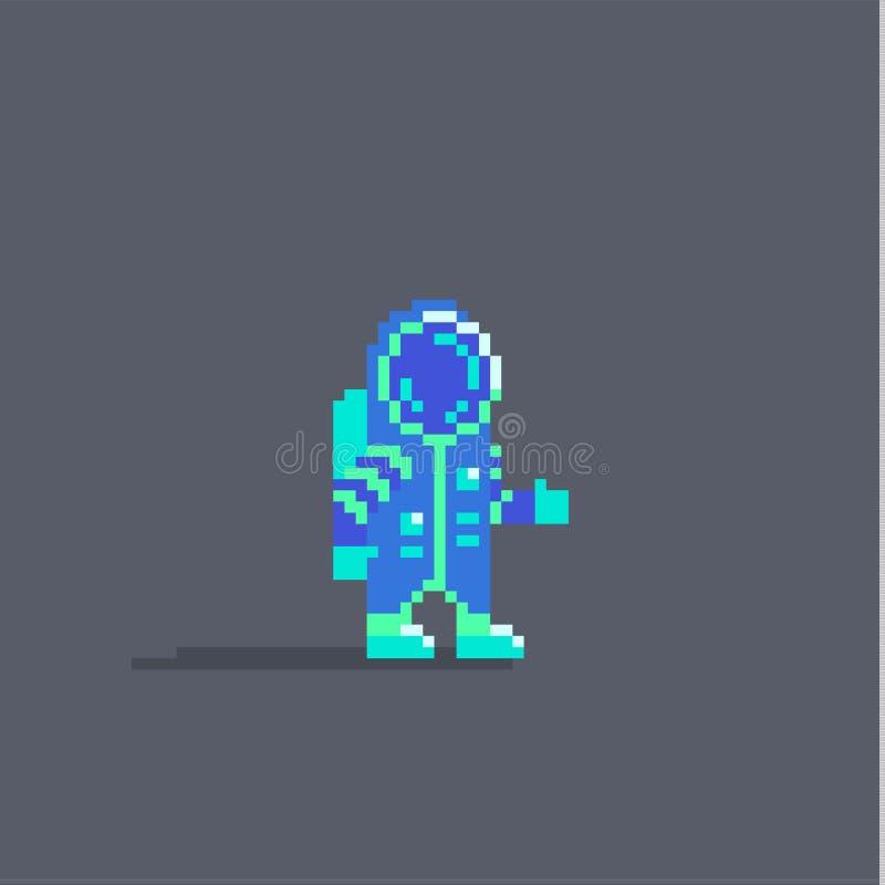 Piksel sztuki astronauta śliczna osobistość royalty ilustracja