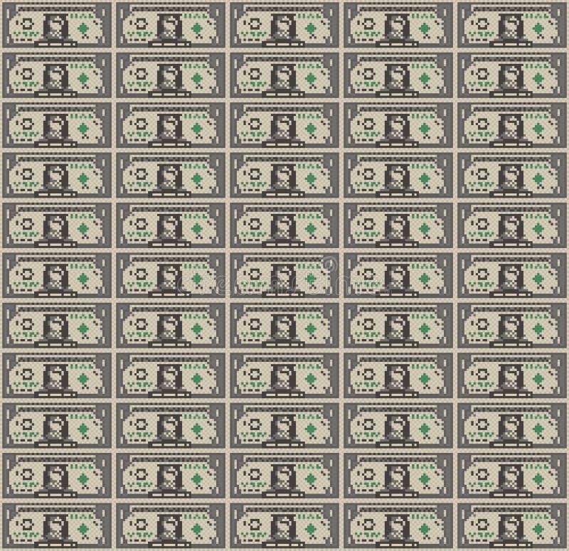 Piksel sztuki Dolarowego Bill tło ilustracji