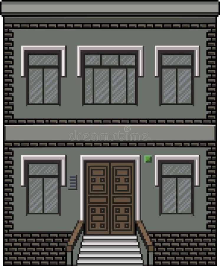 Piksel sztuki dom dla tła ilustracji