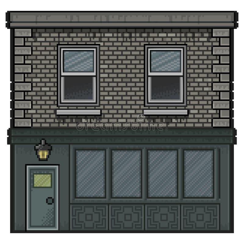 Piksel sztuki dom dla tła royalty ilustracja