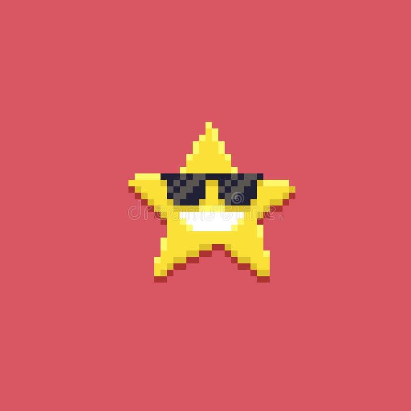 Piksel sztuki gwiazda royalty ilustracja