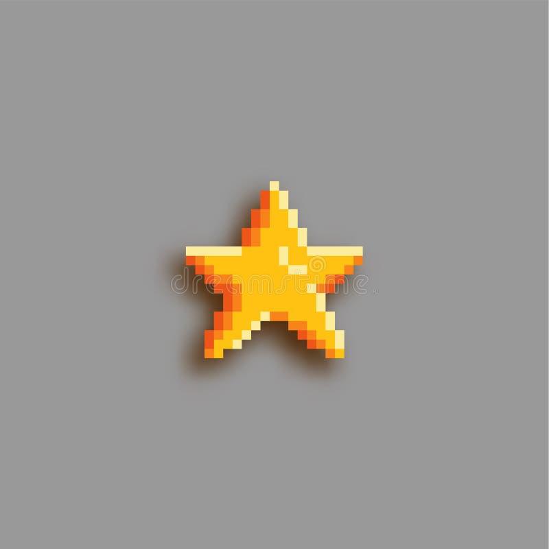 Piksel sztuki gwiazdy ikona ilustracja wektor