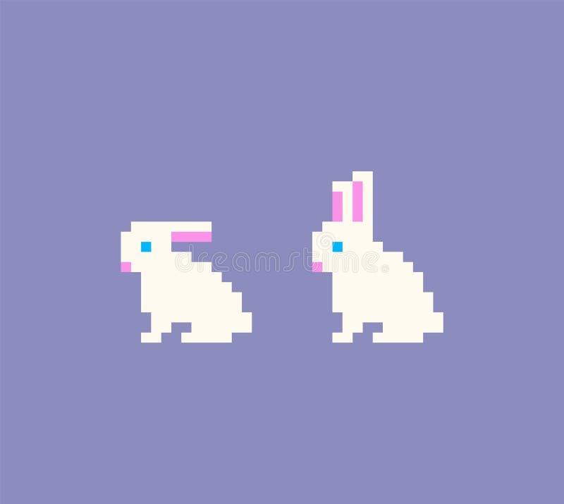 Piksel sztuki królika ikony ilustracja wektor