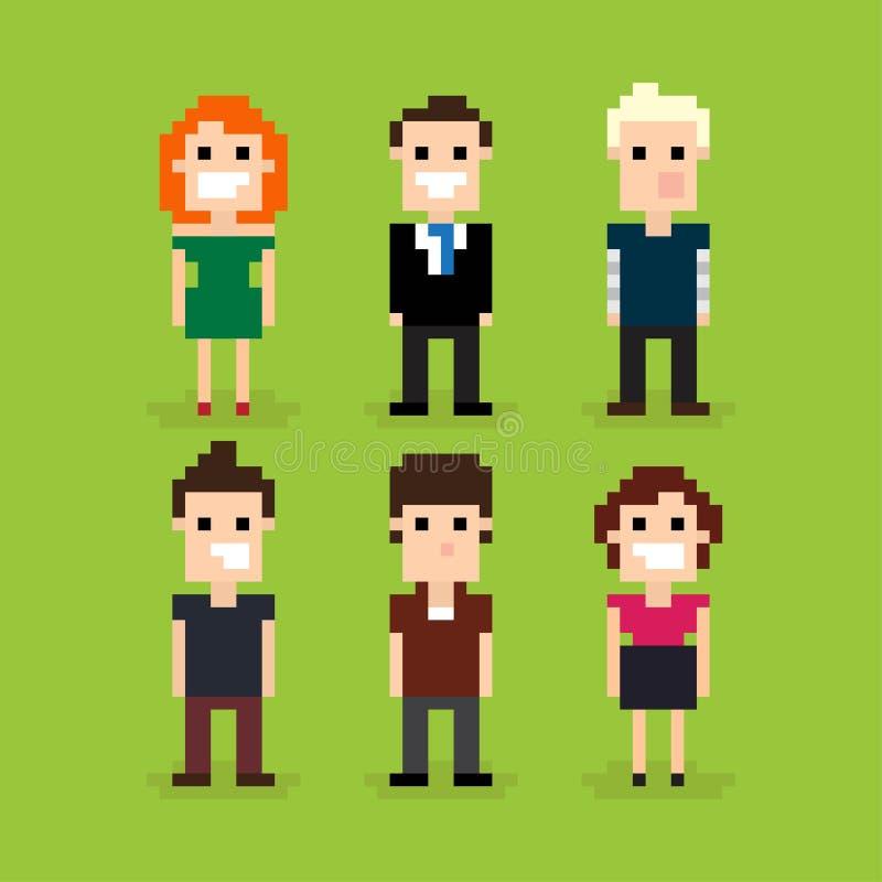Piksel sztuki ludzie ilustracji