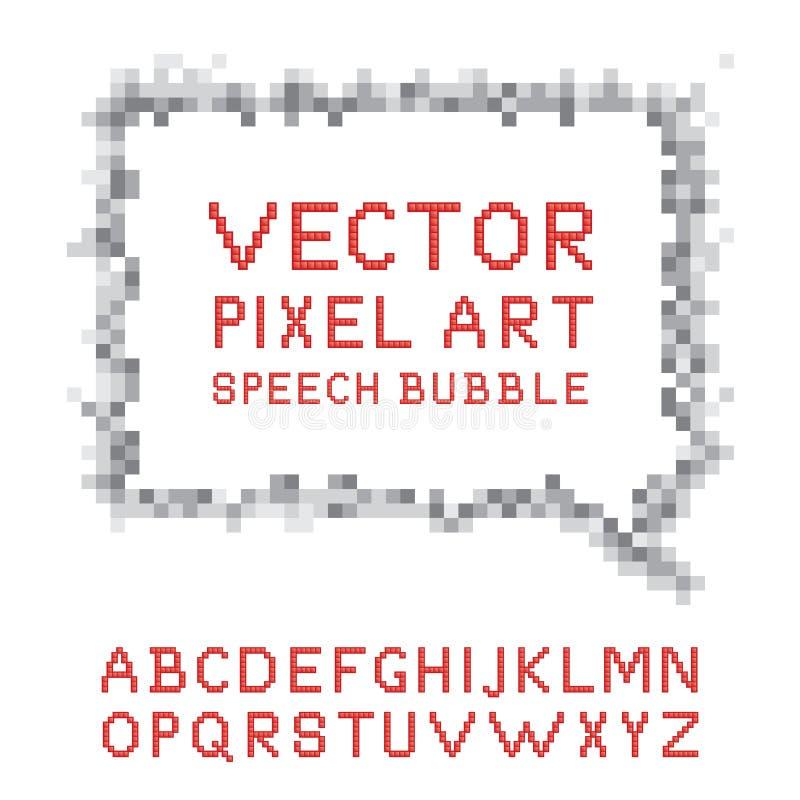 Piksel sztuki mowy bąbel royalty ilustracja