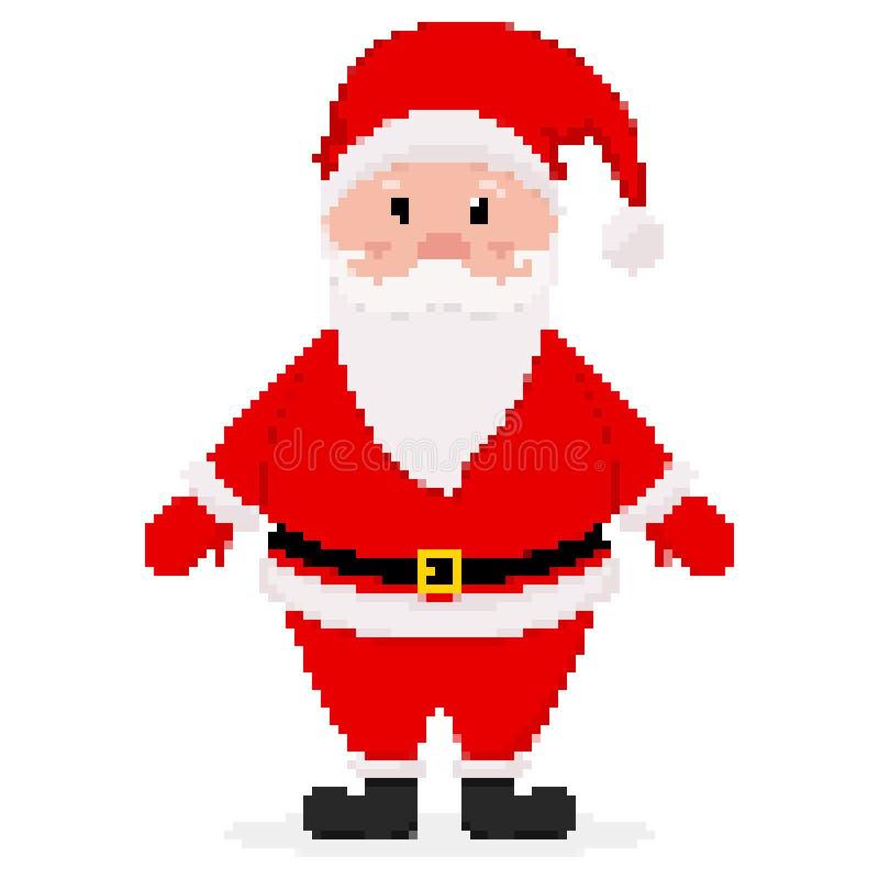 Piksel sztuki projekt Święty Mikołaj r?wnie? zwr?ci? corel ilustracji wektora ilustracji