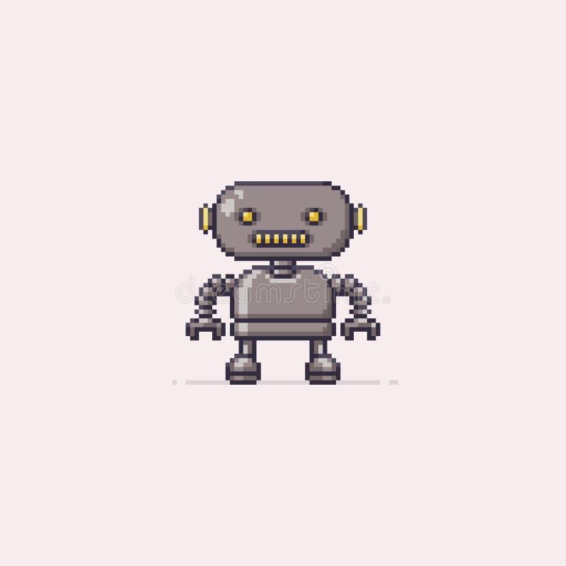 Piksel sztuki robot