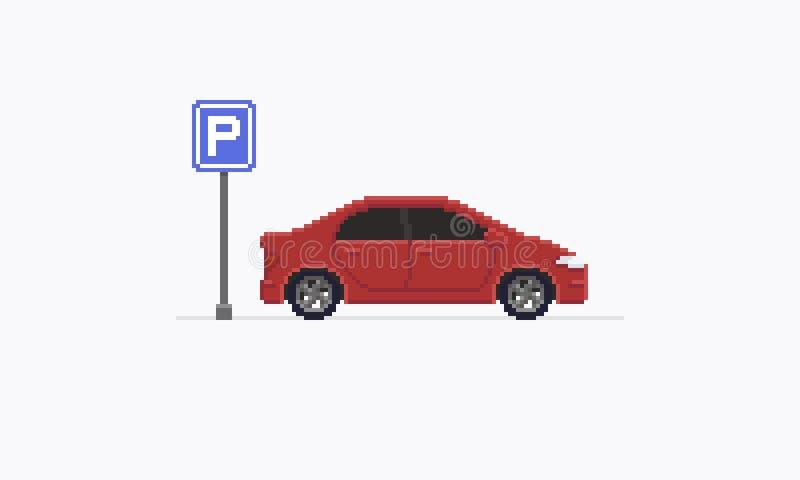 Piksel sztuki samochód royalty ilustracja