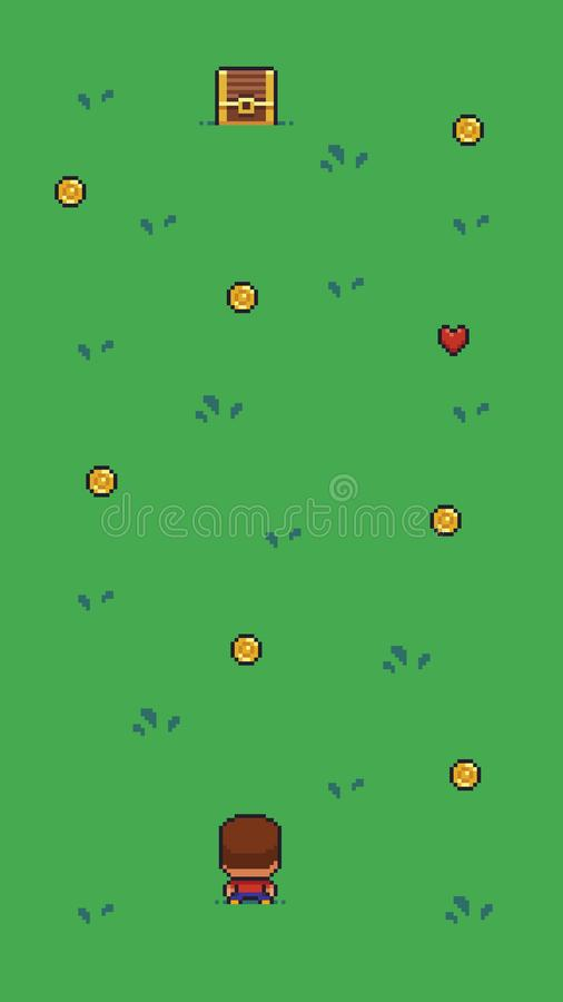 Piksel sztuki scena ilustracji