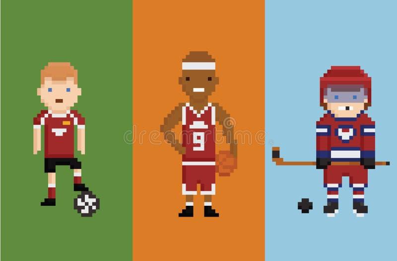 Piksel sztuki stylu ilustracja - sportowa futbol ilustracja wektor