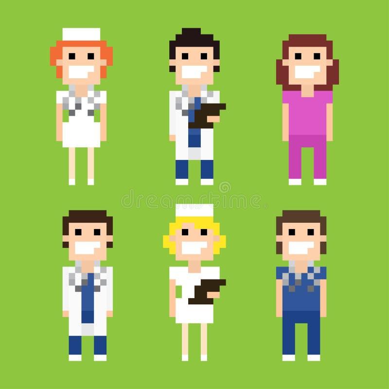 Piksel sztuki szpital royalty ilustracja