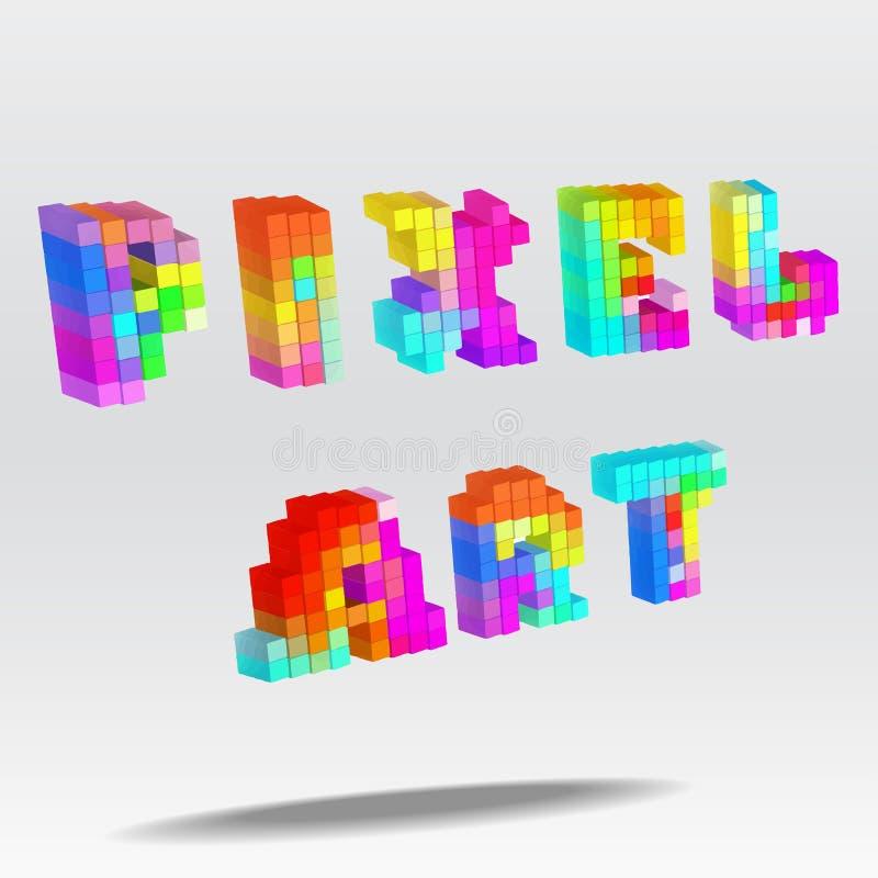 Piksel sztuki tekst ilustracji
