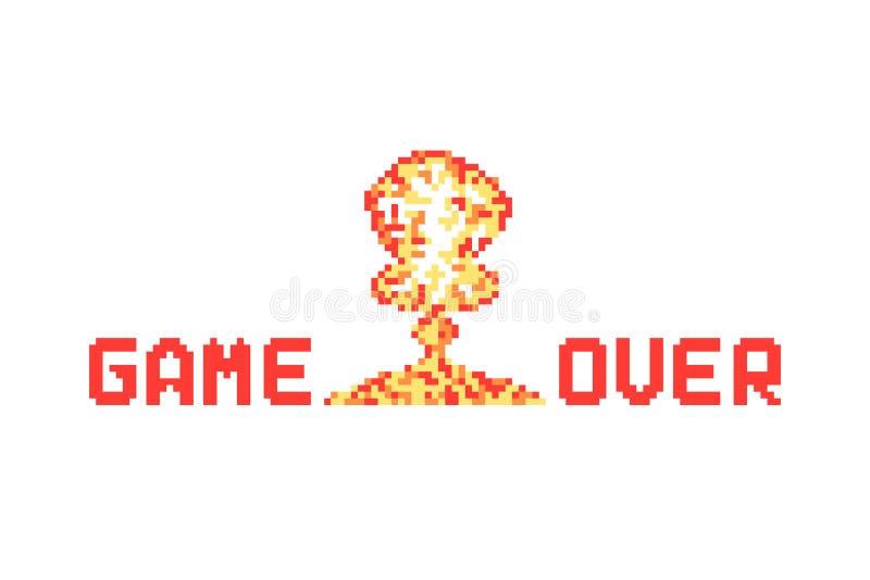 Piksel sztuki wybuch lubi grę nad wektorową ilustracją ilustracji
