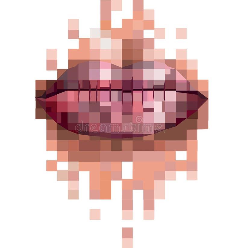 Piksel wargi fotografia royalty free