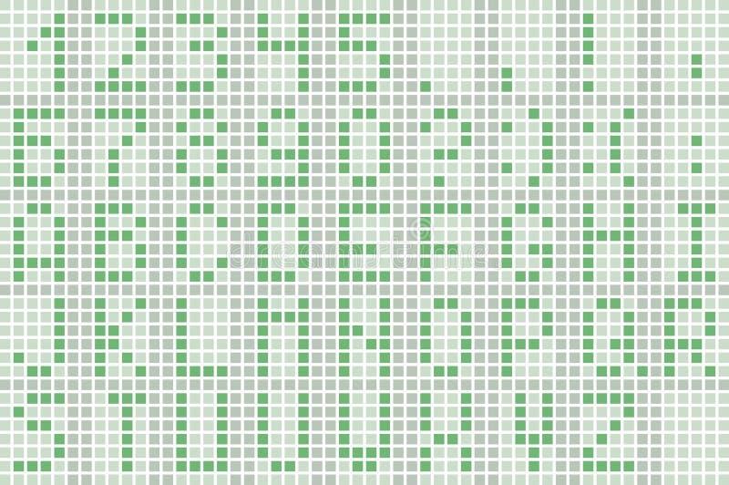 Piksel zielona chrzcielnica ilustracji