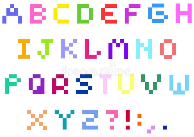 Download Piksla abecadło ilustracja wektor. Obraz złożonej z mozaika - 22051411