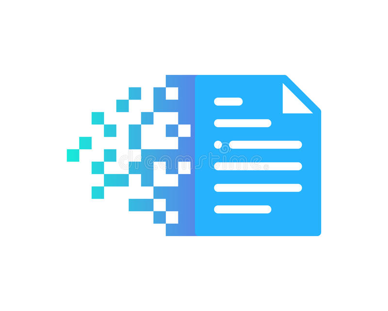 Piksla dokumentu ikony loga projekta element royalty ilustracja