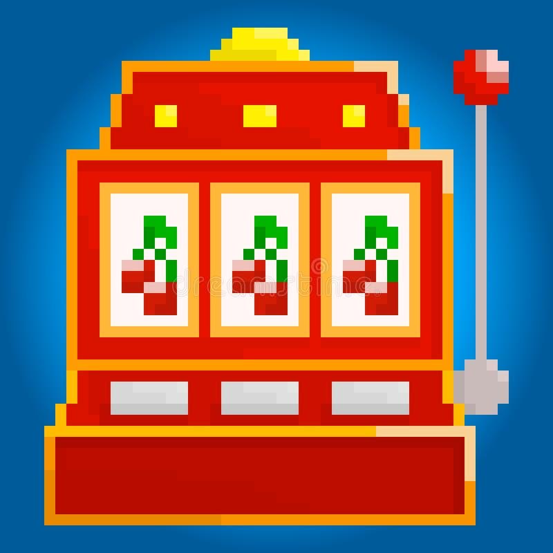 Piksla hazardu maszyna ilustracja wektor