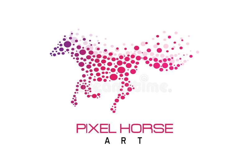 Piksla konia logo ilustracji
