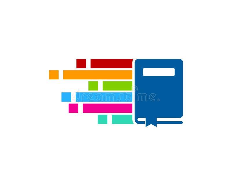 Piksla loga ikony Książkowy projekt ilustracji