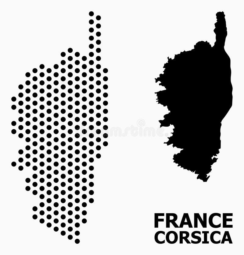 Piksla wzoru mapa Corsica ilustracja wektor
